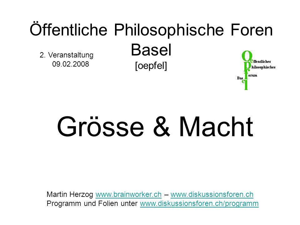 Öffentliche Philosophische Foren Basel [oepfel]